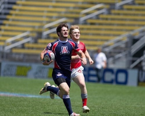 College Rugby Player