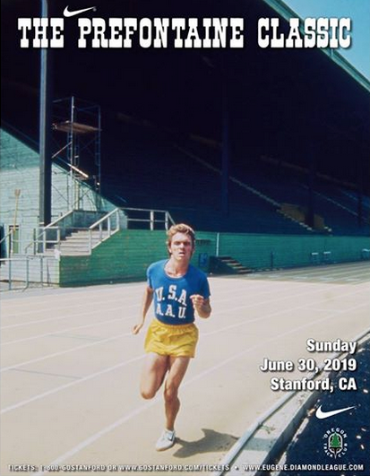 Prefontaine Classic Poster, held at Stanford University