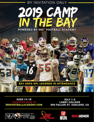 """Navies Foundation Training Day in the Bay"""" football camp COMBINE PREP & SPORTS PERFORMANCE TRAINING"""