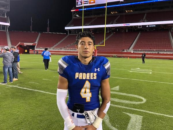 With his team playing a much-hyped early season game under the lights of Levi's Stadium, three-year varsity starter and captain, Nate Sanchez delivered a performance worthy of the glitzy NFL setting.