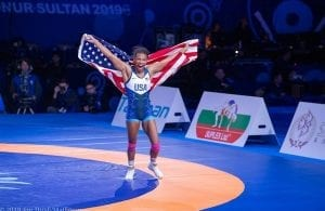 Jacarra Winchester (San Lorenzo HS, NC) 2019 World Champion Womens Wrestling